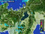 2016年02月16日の滋賀県の雨雲レーダー