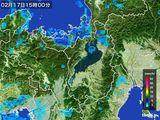 2016年02月17日の滋賀県の雨雲レーダー