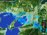 雨雲レーダー(2016年02月17日)