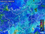 2016年02月20日の滋賀県の雨雲レーダー