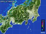2016年02月21日の関東・甲信地方の雨雲レーダー