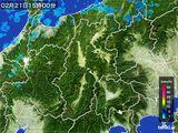 2016年02月21日の長野県の雨雲レーダー