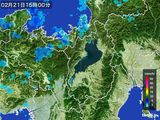 2016年02月21日の滋賀県の雨雲レーダー
