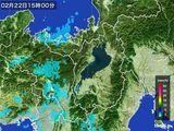 2016年02月22日の滋賀県の雨雲レーダー