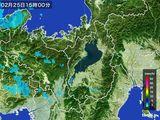 2016年02月25日の滋賀県の雨雲レーダー