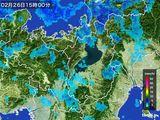 2016年02月26日の滋賀県の雨雲レーダー