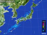 2016年02月27日の雨雲レーダー
