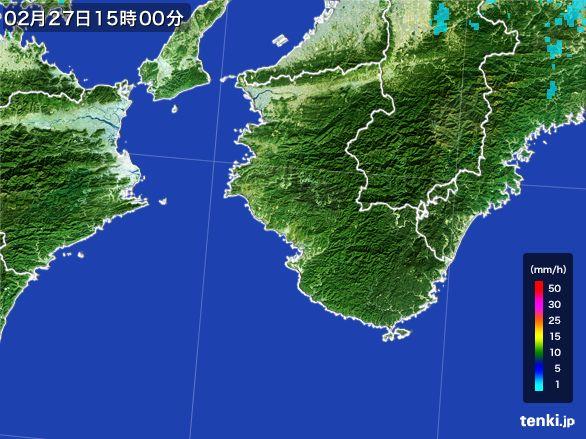 和歌山県の雨雲レーダー(2016年02月27日)