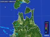 2016年02月28日の青森県の雨雲レーダー
