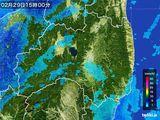 2016年02月29日の福島県の雨雲レーダー
