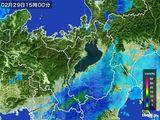 2016年02月29日の滋賀県の雨雲レーダー