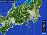 2016年03月02日の関東・甲信地方の雨雲レーダー