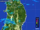 2016年03月02日の岩手県の雨雲レーダー