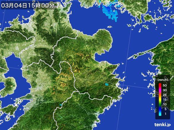 大分県の雨雲レーダー(2016年03月04日)
