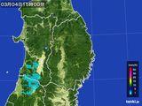 2016年03月04日の岩手県の雨雲レーダー