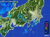 2016年03月06日の関東・甲信地方の雨雲レーダー