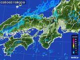 2016年03月06日の近畿地方の雨雲レーダー