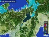 2016年03月06日の滋賀県の雨雲レーダー