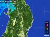 2016年03月06日の岩手県の雨雲レーダー