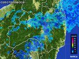 2016年03月07日の福島県の雨雲レーダー