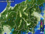 2016年03月07日の長野県の雨雲レーダー