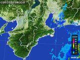 2016年03月07日の三重県の雨雲レーダー
