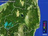 2016年03月08日の福島県の雨雲レーダー