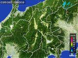 2016年03月08日の長野県の雨雲レーダー