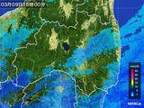 2016年03月09日の福島県の雨雲レーダー
