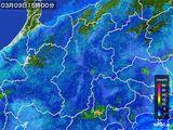 2016年03月09日の長野県の雨雲レーダー