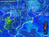 2016年03月09日の三重県の雨雲レーダー
