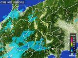 2016年03月10日の長野県の雨雲レーダー