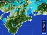 2016年03月10日の三重県の雨雲レーダー