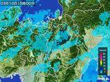 2016年03月10日の滋賀県の雨雲レーダー