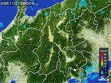 2016年03月11日の長野県の雨雲レーダー