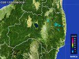 2016年03月12日の福島県の雨雲レーダー