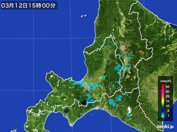道央の雨雲レーダー(2016年03月12日)