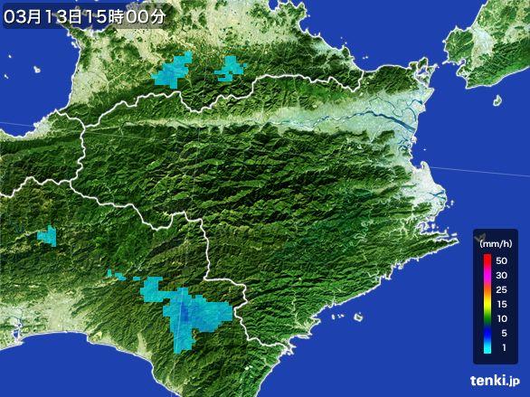 徳島県の雨雲レーダー(2016年03月13日)