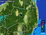 2016年03月14日の福島県の雨雲レーダー