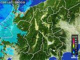 2016年03月18日の長野県の雨雲レーダー