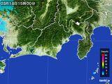 2016年03月18日の静岡県の雨雲レーダー