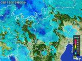 2016年03月18日の滋賀県の雨雲レーダー