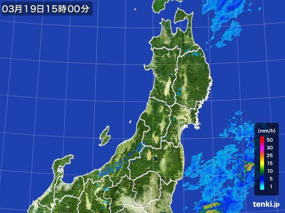 東北地方の雨雲レーダー(2016年03月19日)