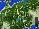 2016年03月19日の長野県の雨雲レーダー