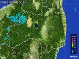 2016年03月21日の福島県の雨雲レーダー