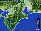 2016年03月22日の三重県の雨雲レーダー