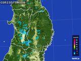 2016年03月23日の岩手県の雨雲レーダー