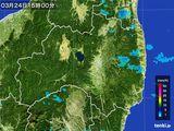 2016年03月24日の福島県の雨雲レーダー
