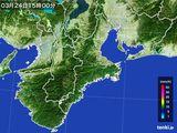2016年03月24日の三重県の雨雲レーダー
