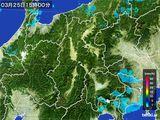 2016年03月25日の長野県の雨雲レーダー